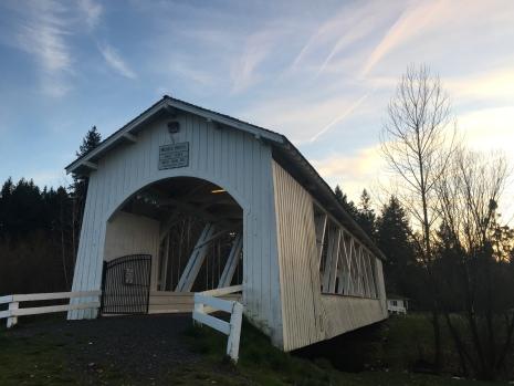 Weddle Bridge in Sweet Home, restoration 1990