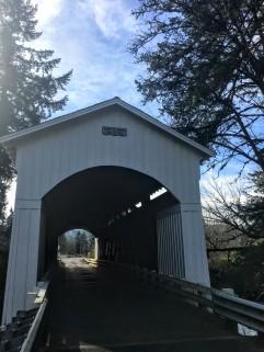Mosby Creek Bridge, built 1920, is Lane County's oldest bridge.