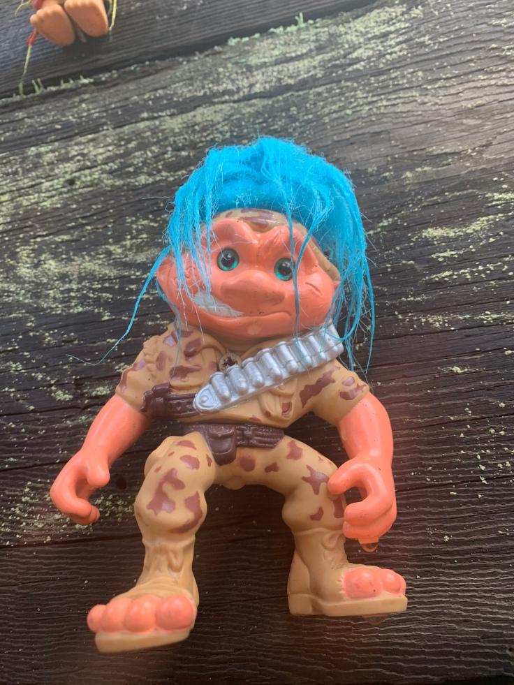 Army troll on the Portland Troll Bridge